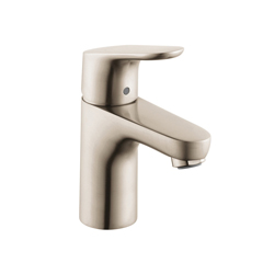 Hansgrohe 04371820 Focus 70 Bathroom Faucet, 1.5 gpm, 3-3/4 in H Spout, 1 Handle, Pop-Up Drain, 1 Faucet Hole, Brushed Nickel