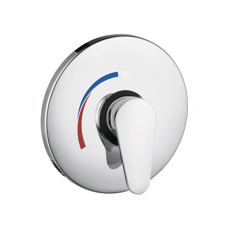 Hansgrohe 04496000 E Pressure Balance Trim, 5.5 gpm Shower, Chrome Plated