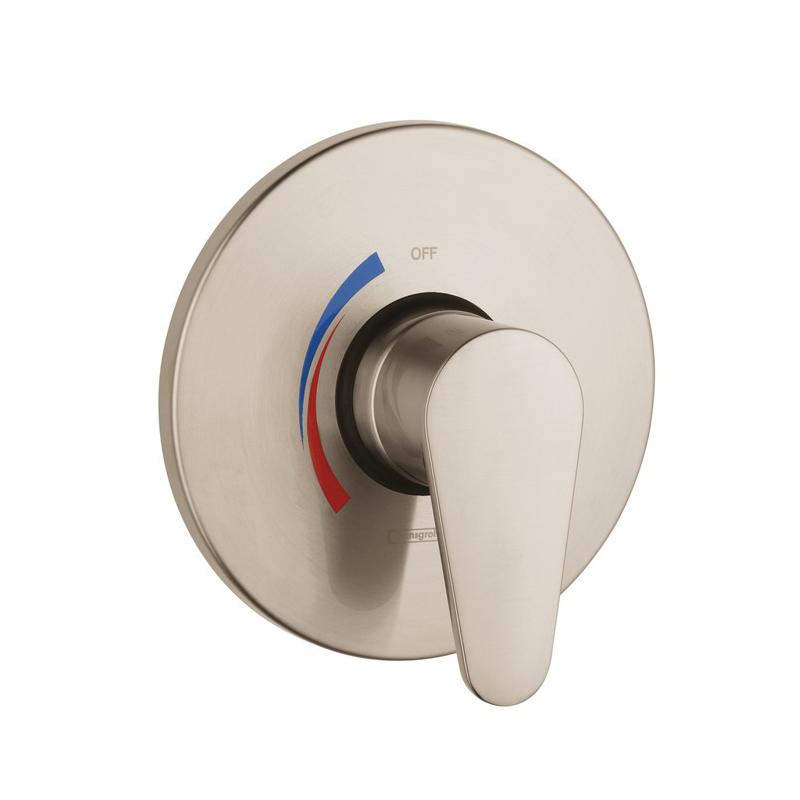 Hansgrohe 04496820 E Pressure Balance Trim, 5.5 gpm Shower, Brushed Nickel