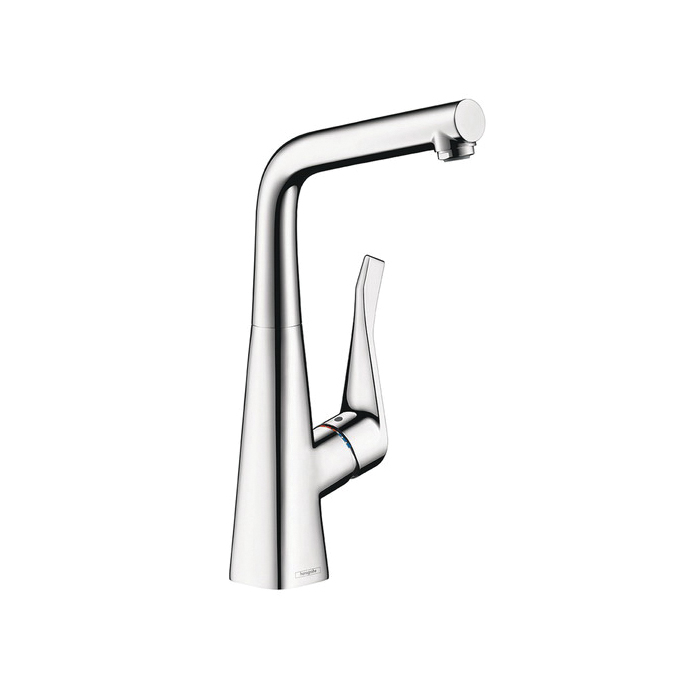 Hansgrohe 04509000 Metris Bar Kitchen Faucet, 1.5 gpm, 1 Handle, Chrome Plated, Residential