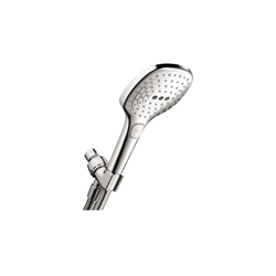 Hansgrohe 04520000 Raindance Select E 120 AIR 3-Jet Hand Shower Set, 2 gpm, 3 Sprays, 4-3/4 in Dia Head, 1/2 in