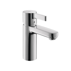 Hansgrohe 04531000 Metris S Bathroom Faucet, 1 gpm, 3-3/4 in H Spout, 1 Handle, 1 Faucet Hole, Chrome Plated, Commercial
