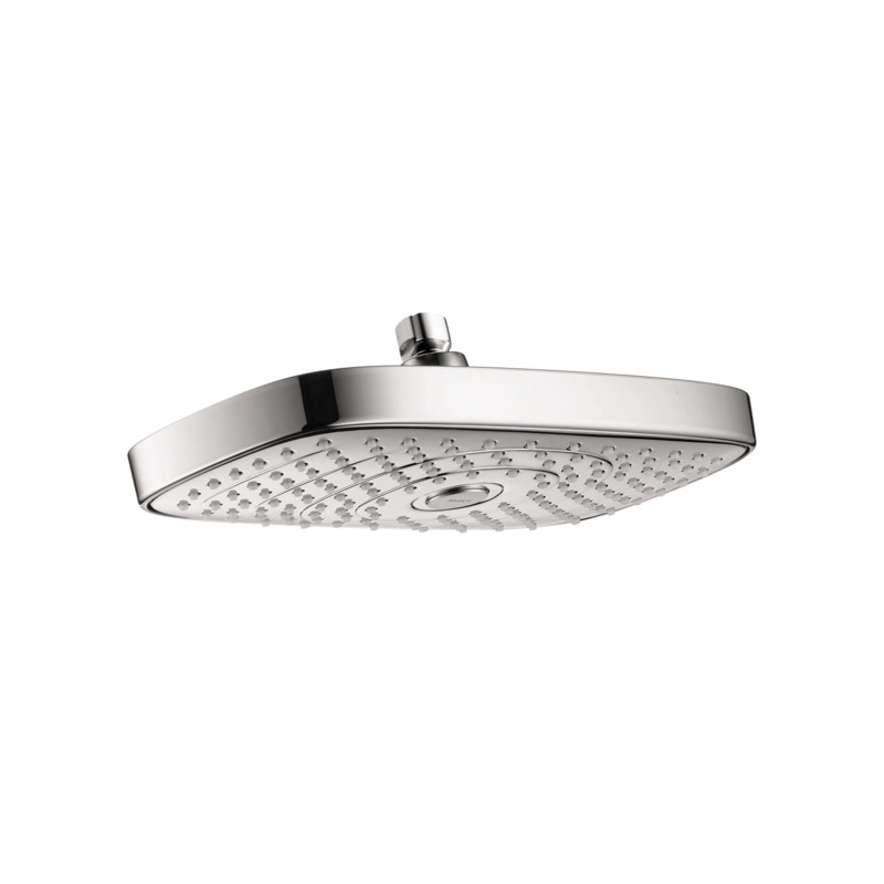 Hansgrohe 04534000 Raindance Select E 300 AIR 2-Jet Shower Head, 2 gpm, 2 Sprays, Wall Mount, 11-3/4 in Head