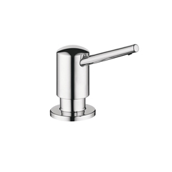 Hansgrohe 04539000 Contemporary E/S Soap Dispenser, 16 oz Bottle, Wall Mount, Metal