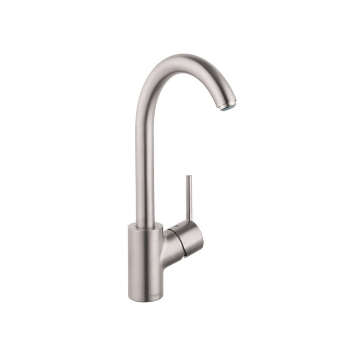 Hansgrohe 04870800 Talis S Kitchen Faucet, 1.5 gpm, 1 Faucet Hole, Steel Optic, 1 Handle, Residential
