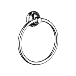 Hansgrohe 06095000 Wall Mount C Towel Ring, 7 in Dia Ring, 2 in OAD, Solid Brass