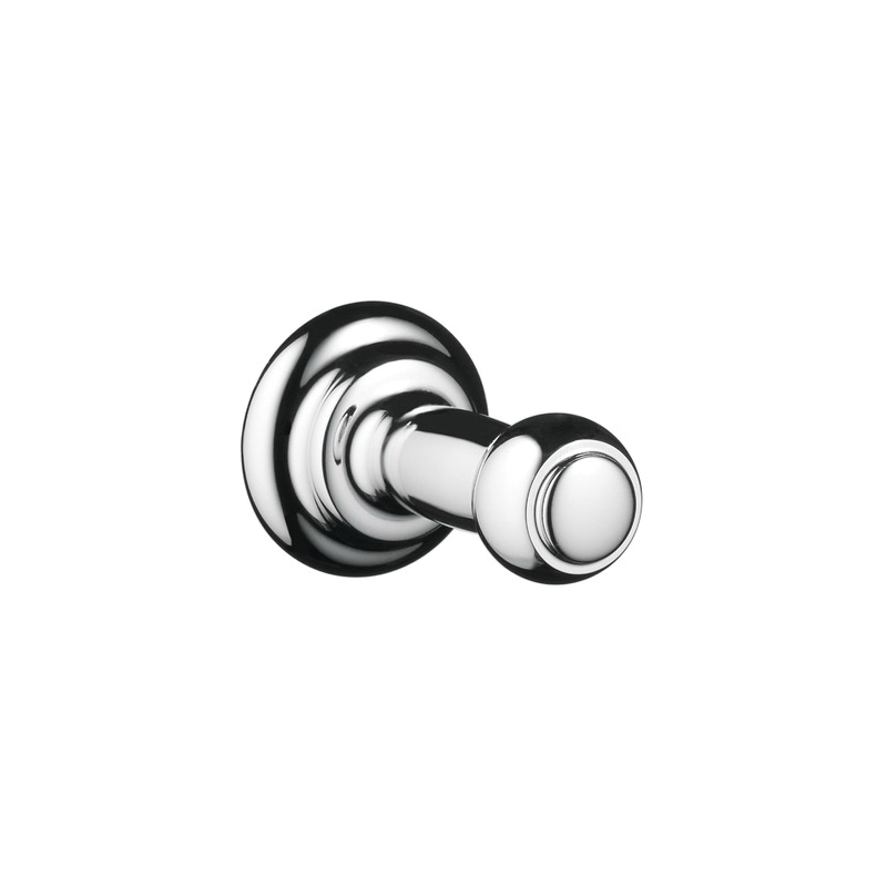 Hansgrohe 06096000 C Face Cloth Hook, 1 Hook, 1-9/16 in OAD, Solid Brass