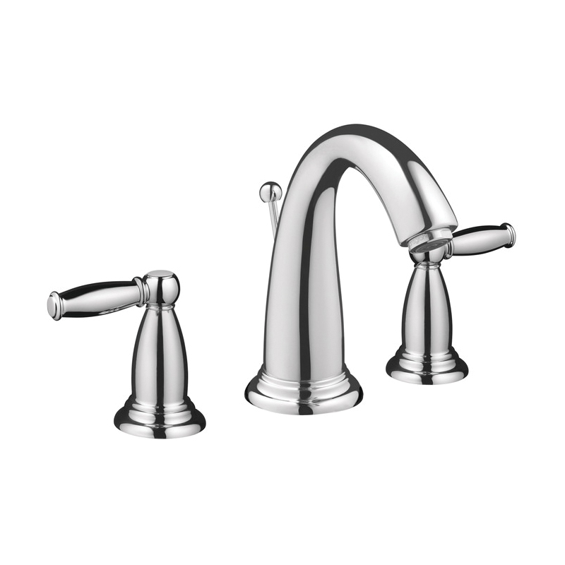 Hansgrohe 06117000 Swing C Widespread Bathroom Faucet, 1.2 gpm, 4-3/4 in H Spout, 8 in Center, Chrome Plated, 2 Handles, Pop-Up Drain, Commercial