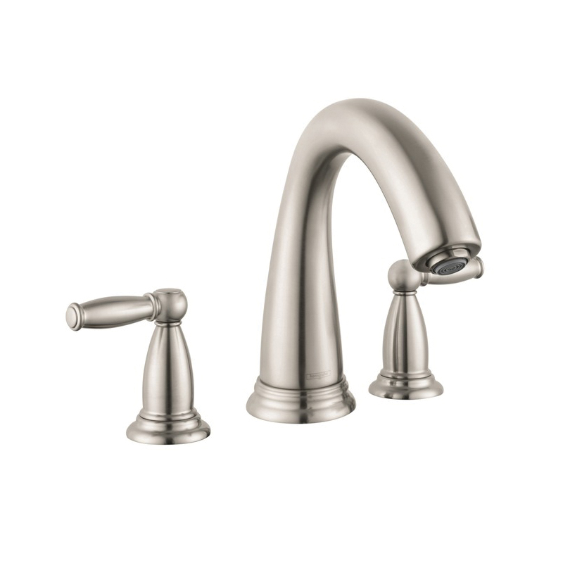 Hansgrohe 6120820 Swing C Tub Filler Set Trim, 5.8 gpm, 8-5/8 in Center, Brushed Nickel, 2 Handles, Hand Shower Yes/No: No