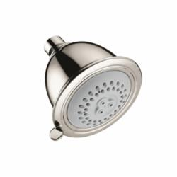 Hansgrohe 06126830 Croma C 75 2-Jet Shower Head, (2) Full/Massage Spray, 2.5 gpm Maximum, Round Head, Wall Mount