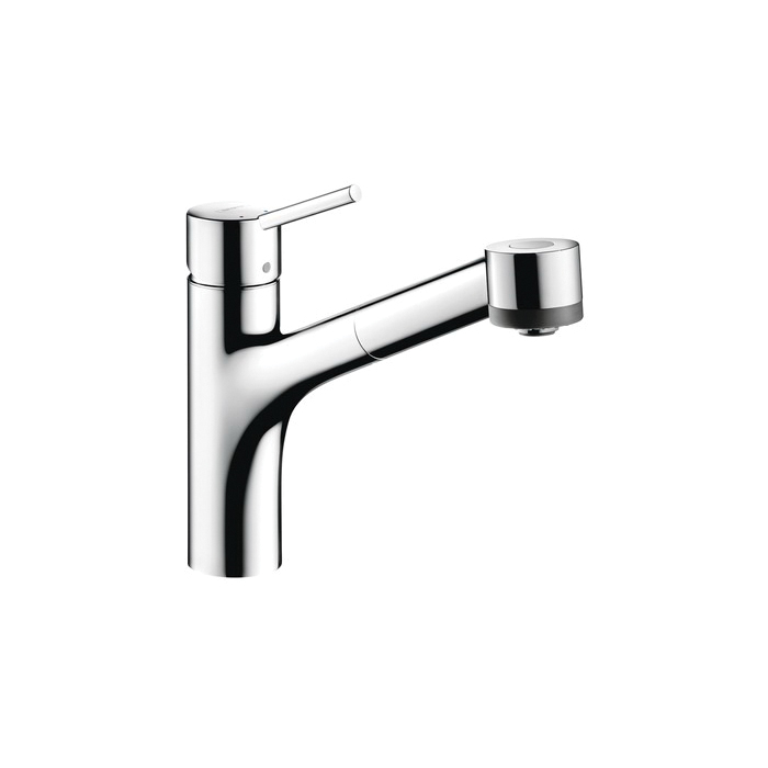Hansgrohe 06462000 Talis S Pull-Out Kitchen Faucet, 1.75 gpm, 1 Faucet Hole, Chrome Plated, 1 Handle, Residential