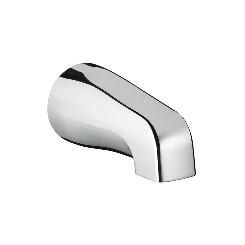 Hansgrohe 06500001 IP Tub Spout, 5 in L, 1/2 in NPT Connection, Metal, Chrome Plated, Commercial