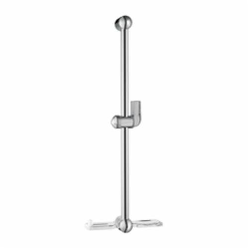 Hansgrohe 06890000 Unica E Wall Bar, 24 in L Bar, 26-3/8 in OAL, Acrylic/Metal, Chrome Plated