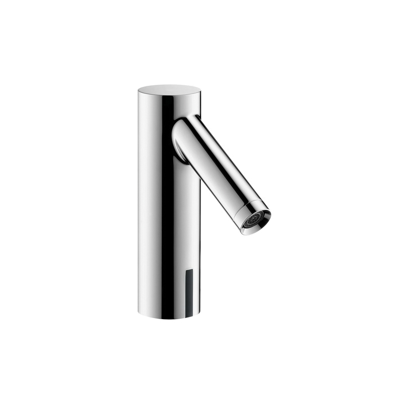 Hansgrohe 10106001 Axor Starck Electronic Faucet Without Pop-Up Assembly, 1.2 gpm, Chrome Plated, CR-P2 Lithium Battery