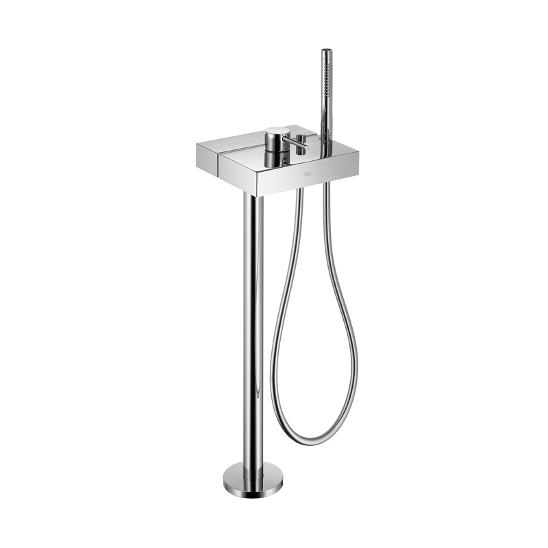 Hansgrohe 10406001 Axor Starck X Free Standing Tub Filler Trim, 5.8 gpm, Chrome Plated, 1 Handles, Hand Shower Yes/No: Yes, Import