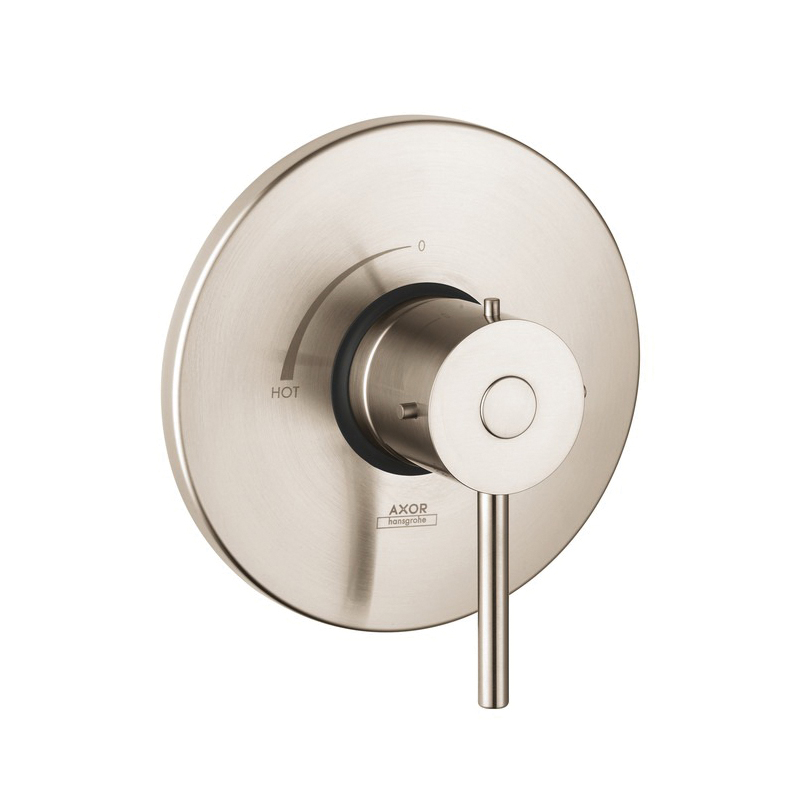 Hansgrohe 10407821 Axor Starck Pressure Balance Trim, 6.5 gpm Shower, Brushed Nickel