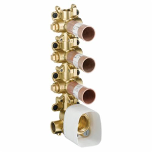Hansgrohe 10750181 Axor Shower 3-Function Thermostatic Rough Module, 1/2 in NPT Inlet x 1/2 in NPT Outlet, 44 psi, 15 gpm, Brass/Plastic Body, Import