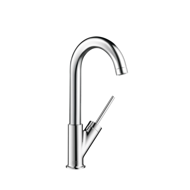 Hansgrohe 10826001 Axor Starck Bar Kitchen Faucet, 1.5 gpm, Chrome Plated, 1 Handles, Residential