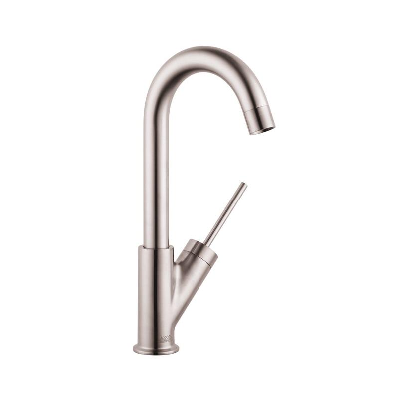 Hansgrohe 10826801 Axor Starck Bar Kitchen Faucet, 1.5 gpm, Steel Optik, 1 Handles, Residential