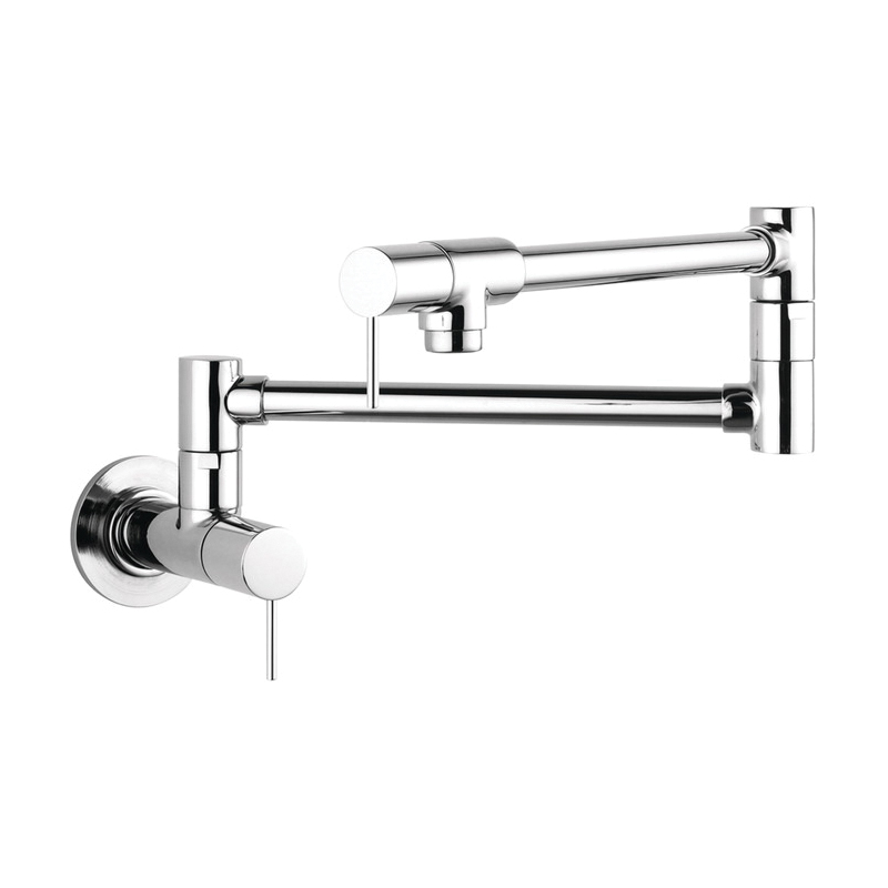 Hansgrohe 10859001 Axor Starck Pot Filler, 2.5 gpm, Chrome Plated, 2 Handles, Residential