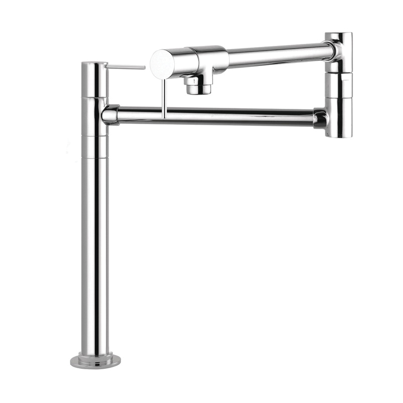 Hansgrohe 10860001 Axor Starck Pot Filler Stand, 2.5 gpm, Chrome Plated, 2 Handles, Residential