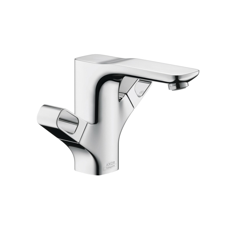 Hansgrohe 11024001 Axor Urquiola Bidet Faucet, 1.5 gpm, 2 Handles, Pop-Up Drain, Chrome Plated, Commercial
