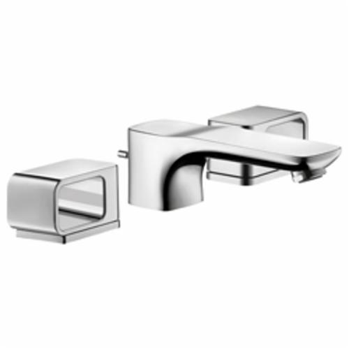 Hansgrohe 11041001 Axor Urquiola Widespread Faucet, 1.2 gpm, 1-3/4 in H Spout, 8 in Center, Chrome Plated, 2 Handles, Pop-Up Drain, Import, Commercial