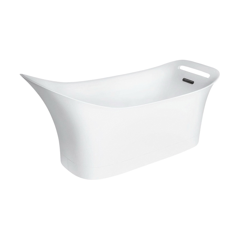 Hansgrohe 11440000 Axor Urquiola Bathtub, Rectangular, 71-1/4 in L x 31-1/4 in W, Center Drain, Chrome Plated, Import