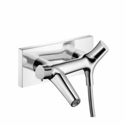Hansgrohe 12410001 Axor Starck Organic Wall Mount Tub Filler, 5.3 gpm, Chrome Plated, 2 Handles, Hand Shower Yes/No: No, Import