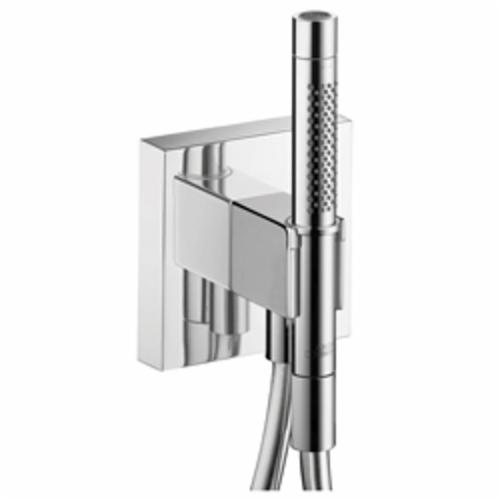 Hansgrohe 12626001 Axor Starck Organic Hand Shower Porter With Outlet and Handshower, Wall Mount, Brass, Import
