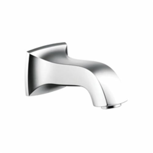 Hansgrohe 13413001 Metris C Tub Spout, 6 in L x 3 in H, 3/4 in MNPT x 1/2 in FNPT Connection, Brass, Chrome Plated, Import