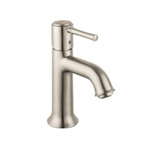 Hansgrohe 14111821 Talis C Bathroom Faucet, 1.2 gpm, 3 in H Spout, 1 Handle, Pop-Up Drain, 1 Faucet Hole, Brushed Nickel, Commercial
