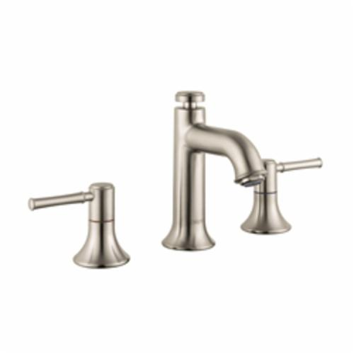 Hansgrohe 14113821 Talis C Widespread Bathroom Faucet, 1.2 gpm, 3 in H Spout, 8 in Center, Brushed Nickel, 2 Handles, Pop-Up Drain, Import, Commercial