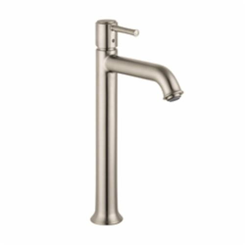 Hansgrohe 14116821 Talis C Tall Bathroom Faucet, 1.2 gpm, 8-7/8 in H Spout, 1 Handle, Pop-Up Drain, 1 Faucet Hole, Brushed Nickel, Commercial