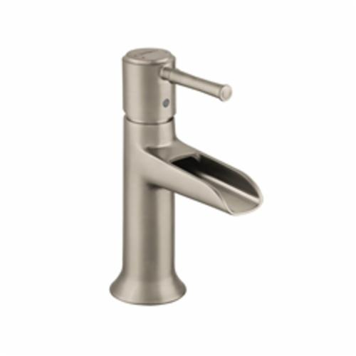 Hansgrohe 14127821 Talis C Bathroom Faucet, 1.2 gpm, 3-3/8 in H Spout, 1 Handle, Pop-Up Drain, 1 Faucet Hole, Brushed Nickel, Commercial