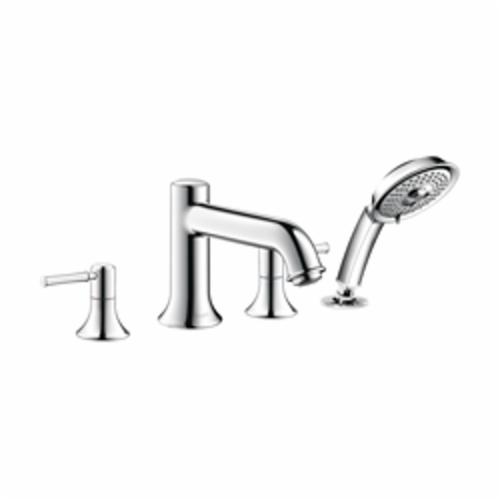 Hansgrohe 14314001 Talis C Roman Tub Filler Set Trim, 5 gpm, Chrome Plated, 2 Handles, Hand Shower Yes/No: Yes