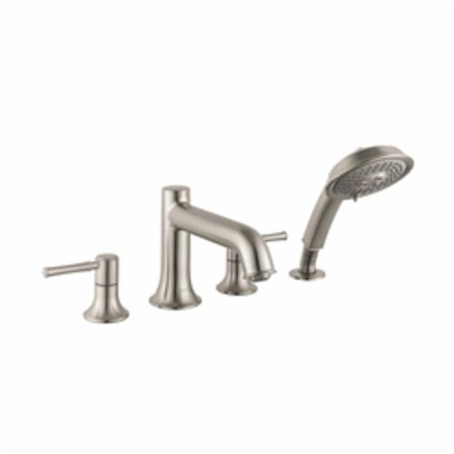 Hansgrohe 14314821 Talis C Roman Tub Filler Set Trim, 5 gpm, Brushed Nickel, 2 Handles, Hand Shower Yes/No: Yes