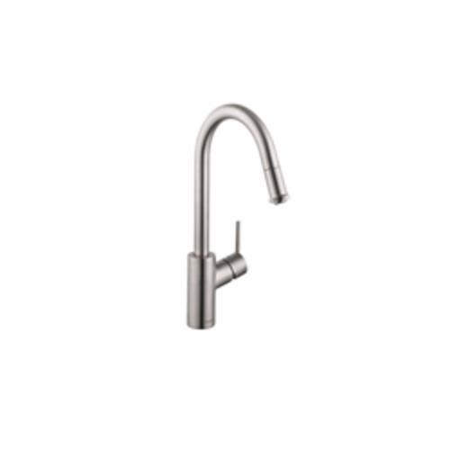 Hansgrohe 14872801 Talis S Pull-Down Kitchen Faucet, 1.75 gpm, 1 Faucet Hole, Steel Optic, 1 Handle, Residential