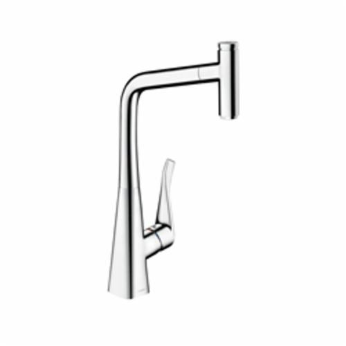 Hansgrohe 14884001 Metris Select Pull-Out Kitchen Faucet, 1.75 gpm, 1 Faucet Hole, 1 Handle, Chrome Plated, Residential
