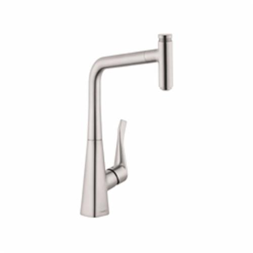 Hansgrohe 14884801 Metris Select Pull-Out Kitchen Faucet, 1.75 gpm, 1 Faucet Hole, 1 Handle, Steel Optic, Residential