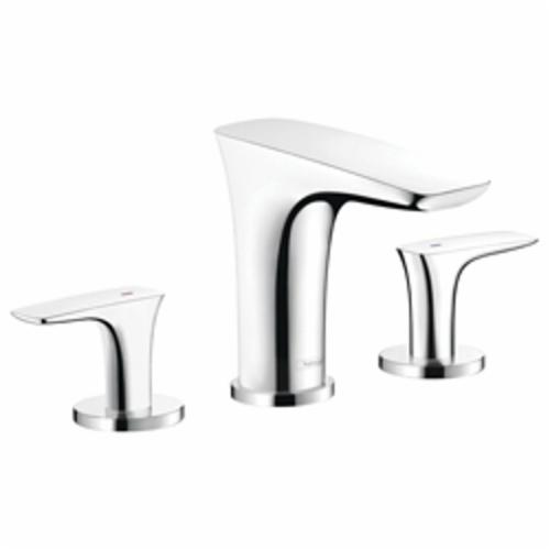 Hansgrohe 15073001 PuraVida 110 Widespread Bathroom Faucet, 1.2 gpm, 4 in H Spout, 8 in Center, Chrome Plated, 2 Handles, Import, Commercial