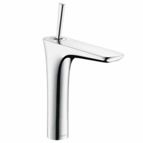 Hansgrohe 15081001 PuraVida 200 Mini High Riser Bathroom Faucet, 1.2 gpm, 7-1/2 in H Spout, 1 Handle, Pop-Up Drain, 1 Faucet Hole, Chrome Plated, Import, Commercial