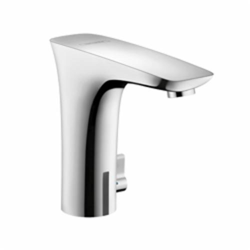 Hansgrohe 15170401 PuraVida Electronic Faucet With Temperature Control, 1.5 gpm, Chrome Plated/White, CR-P2 Lithium Battery