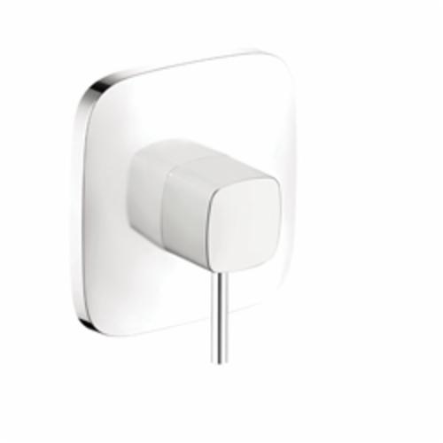Hansgrohe 15407401 PuraVida Pressure Balance Trim, 5.5 gpm Shower, Chrome Plated/White
