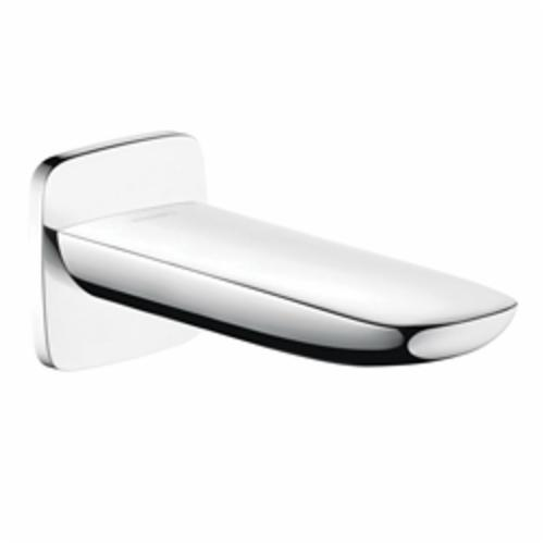Hansgrohe 15412001 PuraVida Tub Spout, 6-5/8 in L, 3/4 in MNPT x 1/2 in FNPT Connection, Brass, Chrome Plated, Domestic