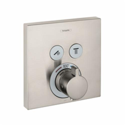 Hansgrohe 15743821 ShowerSelect Round Thermostatic Trim, Hand Shower Yes/No: No, Brushed Nickel
