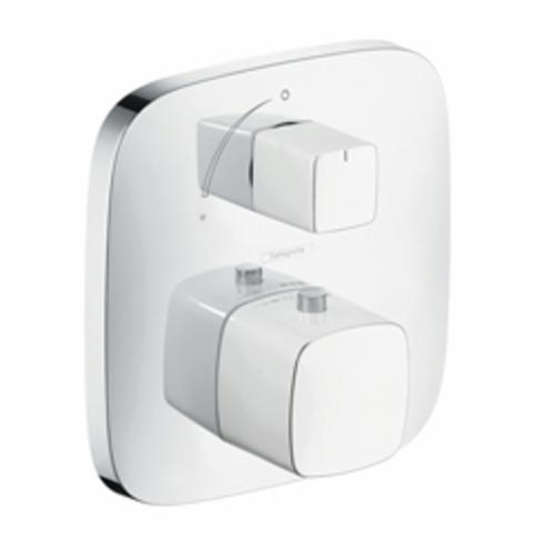 Hansgrohe 15775401 PuraVida Thermostatic Trim, Hand Shower Yes/No: No, Chrome Plated/White