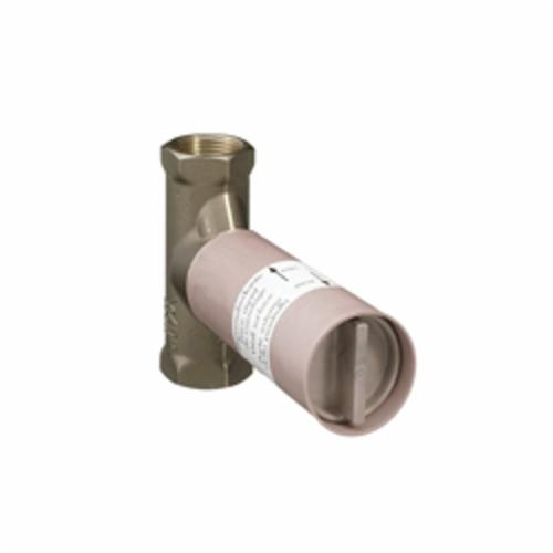 Hansgrohe 15974181 Axor Shower Volume Control Rough-In Valve, 1/2 in NPT Inlet x 1/2 in NPT Outlet, 10.5 gpm, Brass/Plastic Body, Import
