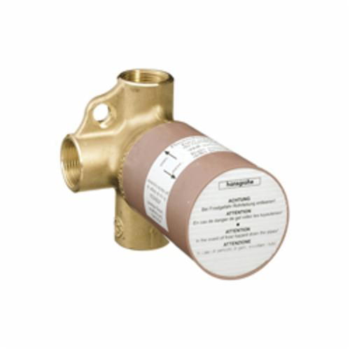 Hansgrohe 15984181 Trio Rough-In Director Valve, 3/4 in FNPT Inlet x 3/4 in FNPT Outlet, 2 Ways, 44 psi, 17 gpm, Brass Body, Import