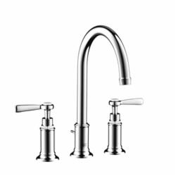 Hansgrohe 16514001 Axor Montreux Widespread Bathroom Faucet, 1.2 gpm, 7 in H Spout, 8 in Center, 2 Handles, Pop-Up Drain, Chrome Plated, Commercial
